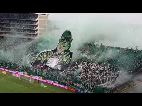 TIFO Welcome to Green Hell CLÁSICO Depórtivo Cali vs América de Cali Fecha 10 Liga Aguila 2017