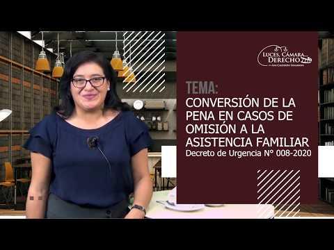 CONVERSIÓN DE LA PENA EN CASOS DE OMISIÓN A LA ASISTENCIA FAMILIAR-Luces Cámara Derecho 160