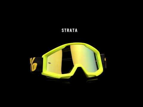 30b5594c2 Óculos 100% Strata (Imp.) Outlaw - Preto e Lente Transparente - Ademir Motos