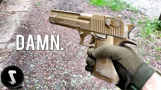 The Golden Overpowered Airsoft Desert Eagle you will WANT.