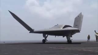 Дрон Northrop Grumman X-47B на авианосце | Украина сегодня