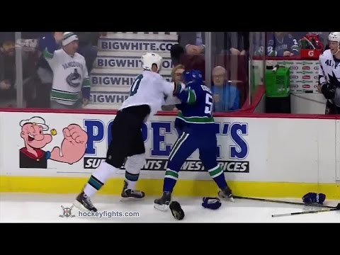 Derek Dorsett vs. John Scott