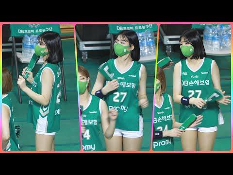 [4K] 치어리더 최석화 직캠 (cheerleader) - 3/4쿼터 응원 모음 @남자농구(원주DB)/210…
