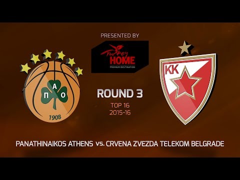 Highlights: Top 16, Round 3, Panathinaikos Athens 63-74 Crvena Zvezda Telekom Belgrade