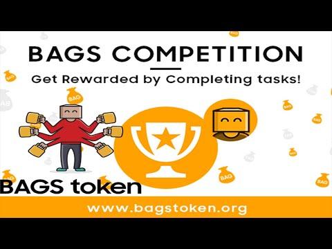 U$ 300 Dólares Grátis no Evento de Airdrop do Token Deflacionário BAGS ! (10,000 BAGS)