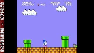 NES - Sonic Bros - [SMB1 Hack]