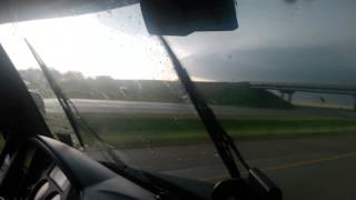 El Reno, Oklahoma tornado in a 18 wheeler.
