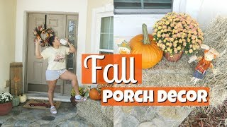 FALL PORCH DECOR | REALISTIC DECORATE WITH ME 2019