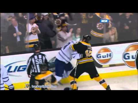 Milan Lucic vs. Mike Komisarek