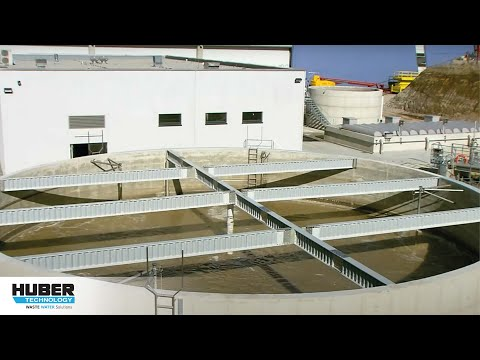 Video: HUBER Rotary Drum Fine Screen ROTAMAT® Ro2 for preliminary wastewater treatment in meat processing industry