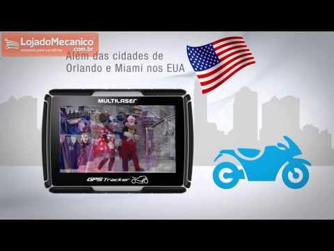 GPS Tracker para Moto 4.3 Pol. à Prova Dágua - Video