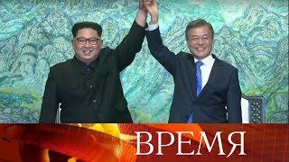 Лидеры КНДР и Южной Кореи провели переговоры в Пханмунджоме.