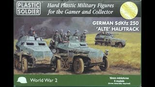 WW2V15028 - PLASTIC SOLDIER COMPANY - SDKFZ 250 -  UNBOXING