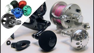 How To Replace A Riveted Fishing Knob With A Power Knob   Avet Van Staal Shimano Daiwa Gomexus