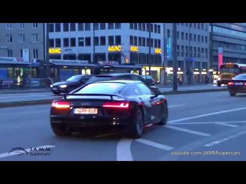 Audi R8 v10 Plus mieten in Nürnberg und München sound exhaust