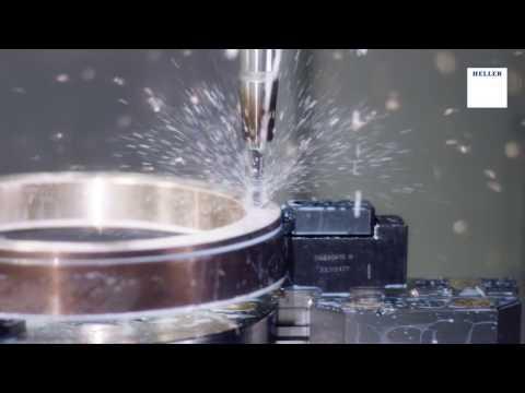 5-Achs-Fräs-Drehzentrum HELLER CP 8000 - Schneckenrad Bearbeitung
