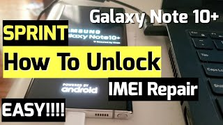 How to Unlock Sprint Note 10 Plus EASY! And IMEI Repair