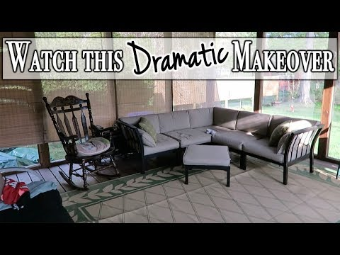 Outdoor DIY & Decor Challenge ~ Screened in Porch Makeover #iamacreator