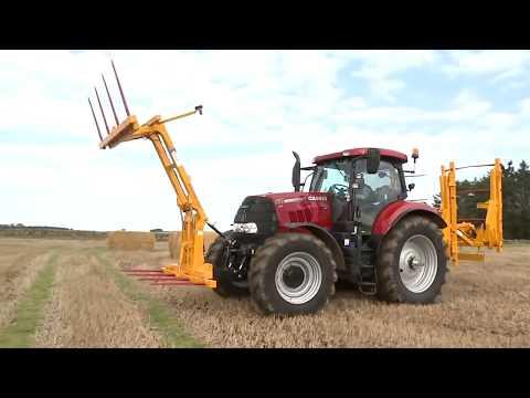 Потрясающие! Трактор-трансформер. Мега транспортировка тюков сена