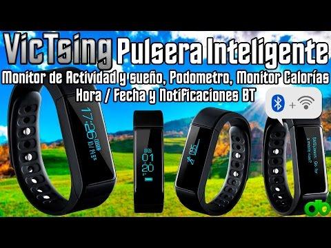 Pulsera Inteligente Bluetooth Impermeable VicTsing (Monitor Actividad y Sueño, Podometro, Calorías)