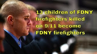 13 Children of Firefighters Killed on 9/11 graduate from FDNY