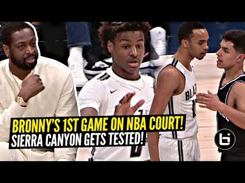 Download Bronny James FIRST Game On NBA Court w/ Dwayne Wade Watching! Sierra Canyon TESTED!? HD Mp4 3GP Video and MP3