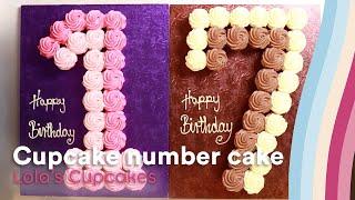 Lolas Cupcakes Number Cake