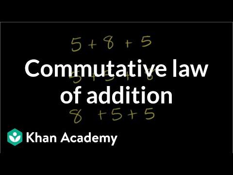 Commutative law of addition (video) | Khan Academy