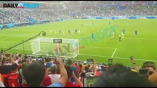 Nigerians in Russian stadium shouted ''over the bar'' before Iceland lost their penalty - VIDEO