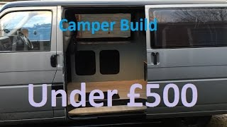 How to convert your van to a basic camper for cheap