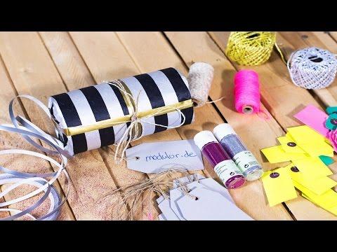 Tutorial: Runde Geschenke einpacken