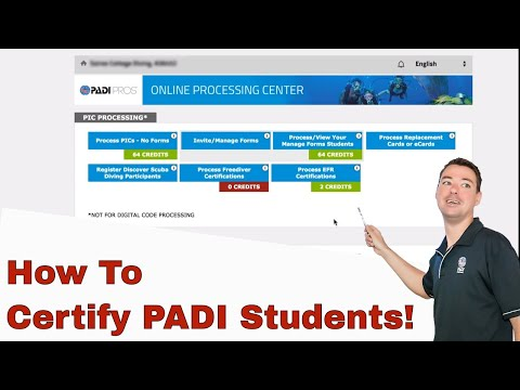 PADI Online Processing Centre OLPC • How To Certify Students ...