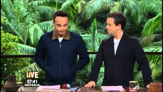 Ant and Dec talk about contraband on I'm A Celebrity 2013.