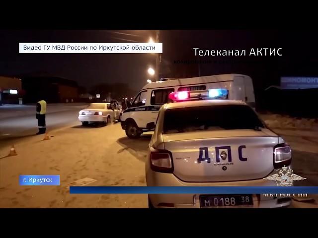 Полицейского прокатили на крыше