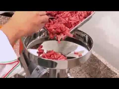 video 1, Combiné hachoir à viande râpe fromage triphasé