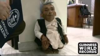 Смотреть онлайн Рекорд Гиннеса самый маленький мужчина в 2014 году