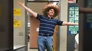 This high school Spanish teacher greets his class hilariously every day
