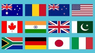 Flags of All Countries of the World with Names Music by High - Daily Hub