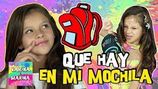 ¿Qué Hay En MI MOCHILA? 🎒 TAG De La Mochila Con Karina Y Marina