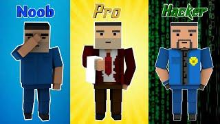 NOOB vs PRO vs HACKER - Block Strike (who won?)