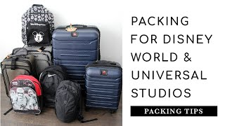 Packing for Disney World and Universal Studios Orlando   One Checked Bag for a Family of 4