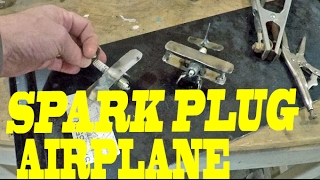 SPARK PLUG AIRPLANE - WELDING JUNK ART