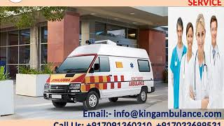 King Road Ambulance in Darbhanga and Muzaffarpur with ICU Setup