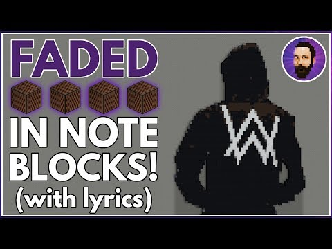 Alan Walker - Faded | Minecraft Note Block Song Minecraft