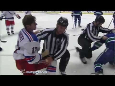 Kevin Bieksa vs. Brandon Dubinsky