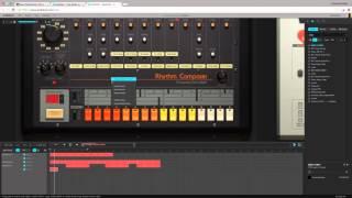 Trap Beat Elements using Audiotool