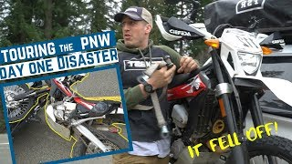 Dirt Bike Falls Off Hitch Carrier on Highway! 😱  Trayvax Tour Day One!