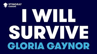 """I Will Survive in the Style of """"Gloria Gaynor"""" karaoke video with lyrics (no lead vocal)"""