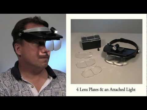 Led Headband Magnifier Magnified Visor With 4 Lenses And