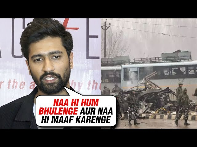 Vicky Kaushal UPSET Over The Pulwama Attack | Expresses His ANGER